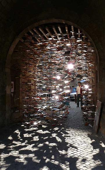 Sculpture livres réalisée par Jan Reymond